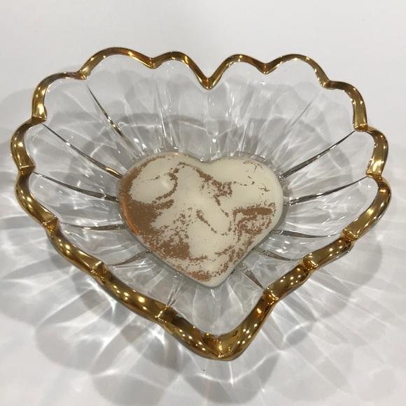 NWOT Crystal Heart Dish, Resin Pour Art